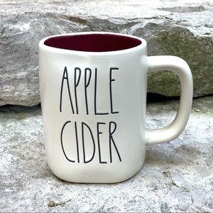 Rae Dunn APPLE CIDER Burgundy Interior Mug